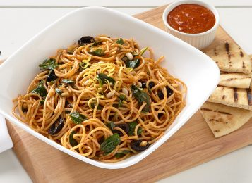 Spaghetti with Spicy Harissa Sauce